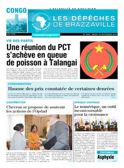 Les Dépêches de Brazzaville : Édition brazzaville du 24 septembre 2019