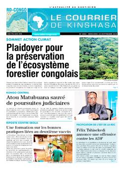 Les Dépêches de Brazzaville : Édition brazzaville du 25 septembre 2019