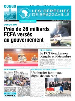 Les Dépêches de Brazzaville : Édition brazzaville du 01 octobre 2019