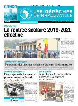 Les Dépêches de Brazzaville : Édition brazzaville du 02 octobre 2019