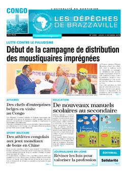 Les Dépêches de Brazzaville : Édition brazzaville du 03 octobre 2019