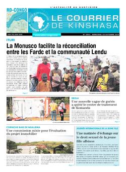 Les Dépêches de Brazzaville : Édition brazzaville du 09 octobre 2019