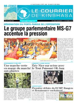 Les Dépêches de Brazzaville : Édition brazzaville du 11 octobre 2019