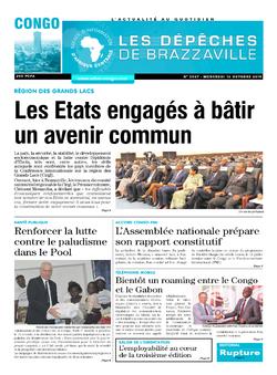 Les Dépêches de Brazzaville : Édition brazzaville du 16 octobre 2019