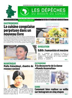 Les Dépêches de Brazzaville : Édition du 6e jour du 19 octobre 2019