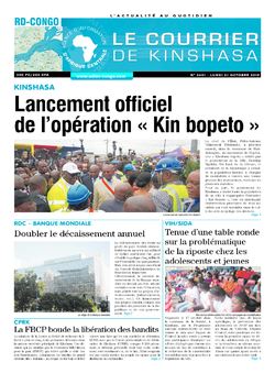 Les Dépêches de Brazzaville : Édition brazzaville du 21 octobre 2019