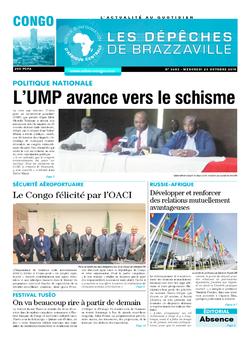 Les Dépêches de Brazzaville : Édition brazzaville du 23 octobre 2019