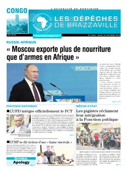 Les Dépêches de Brazzaville : Édition brazzaville du 24 octobre 2019