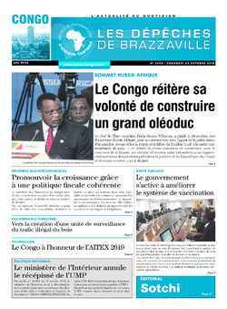 Les Dépêches de Brazzaville : Édition brazzaville du 25 octobre 2019
