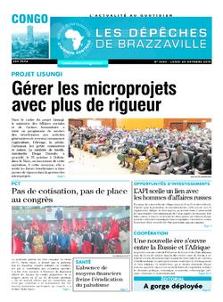 Les Dépêches de Brazzaville : Édition brazzaville du 28 octobre 2019