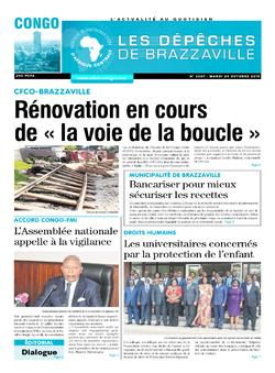 Les Dépêches de Brazzaville : Édition brazzaville du 29 octobre 2019