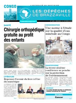 Les Dépêches de Brazzaville : Édition brazzaville du 30 octobre 2019