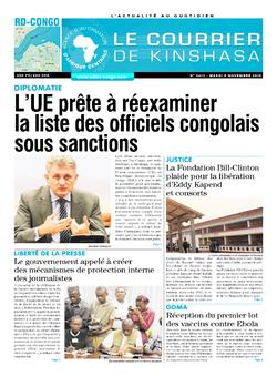 Les Dépêches de Brazzaville : Édition brazzaville du 05 novembre 2019