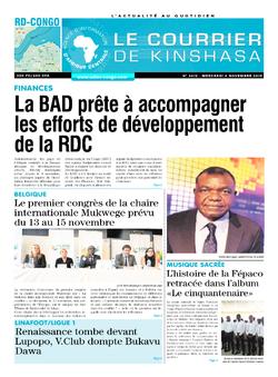 Les Dépêches de Brazzaville : Édition brazzaville du 06 novembre 2019