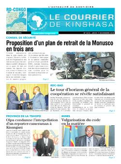 Les Dépêches de Brazzaville : Édition brazzaville du 07 novembre 2019