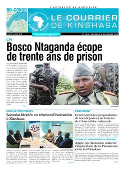 Les Dépêches de Brazzaville : Édition brazzaville du 08 novembre 2019