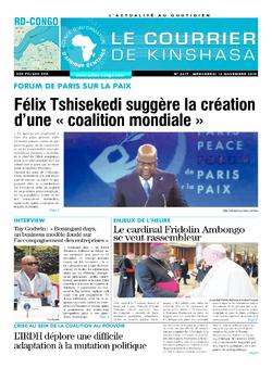 Les Dépêches de Brazzaville : Édition brazzaville du 13 novembre 2019
