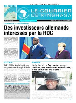 Les Dépêches de Brazzaville : Édition brazzaville du 18 novembre 2019