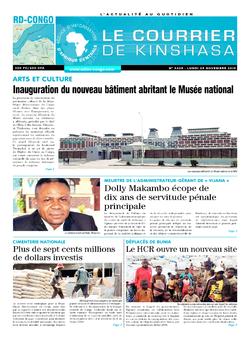 Les Dépêches de Brazzaville : Édition brazzaville du 25 novembre 2019