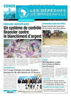 Les Dépêches de Brazzaville : Édition brazzaville du 26 novembre 2019