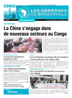Les Dépêches de Brazzaville : Édition brazzaville du 13 décembre 2019
