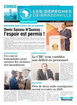 Les Dépêches de Brazzaville : Édition brazzaville du 18 décembre 2019