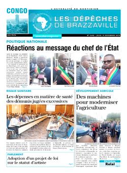 Les Dépêches de Brazzaville : Édition brazzaville du 19 décembre 2019