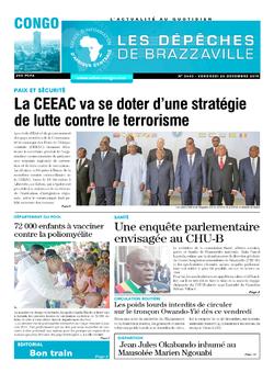 Les Dépêches de Brazzaville : Édition brazzaville du 20 décembre 2019
