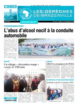Les Dépêches de Brazzaville : Édition brazzaville du 24 décembre 2019