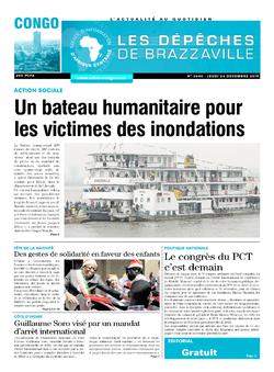 Les Dépêches de Brazzaville : Édition brazzaville du 26 décembre 2019