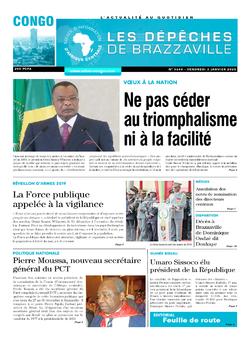 Les Dépêches de Brazzaville : Édition brazzaville du 03 janvier 2020