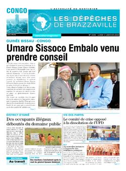 Les Dépêches de Brazzaville : Édition brazzaville du 06 janvier 2020