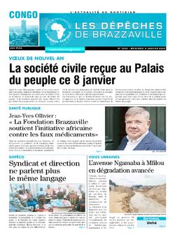 Les Dépêches de Brazzaville : Édition brazzaville du 08 janvier 2020