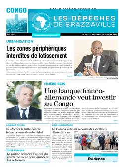 Les Dépêches de Brazzaville : Édition brazzaville du 15 janvier 2020