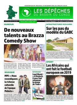 Les Dépêches de Brazzaville : Édition du 6e jour du 18 janvier 2020