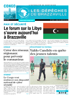 Les Dépêches de Brazzaville : Édition brazzaville du 30 janvier 2020