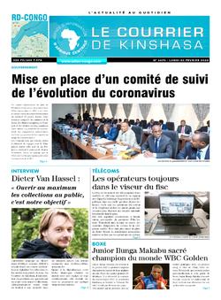 Les Dépêches de Brazzaville : Édition brazzaville du 03 février 2020