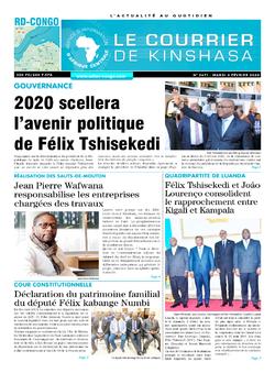 Les Dépêches de Brazzaville : Édition brazzaville du 04 février 2020