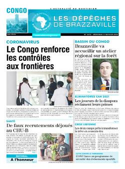 Les Dépêches de Brazzaville : Édition brazzaville du 05 février 2020