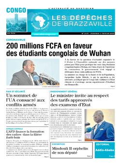 Les Dépêches de Brazzaville : Édition brazzaville du 07 février 2020