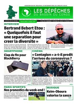 Les Dépêches de Brazzaville : Édition brazzaville du 09 février 2020