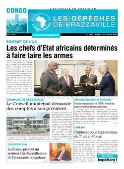 Les Dépêches de Brazzaville : Édition brazzaville du 11 février 2020
