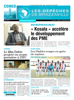 Les Dépêches de Brazzaville : Édition brazzaville du 23 février 2020