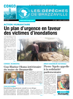 Les Dépêches de Brazzaville : Édition brazzaville du 01 mars 2020