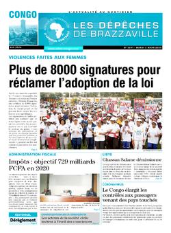 Les Dépêches de Brazzaville : Édition brazzaville du 03 mars 2020