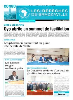 Les Dépêches de Brazzaville : Édition brazzaville du 12 mars 2020
