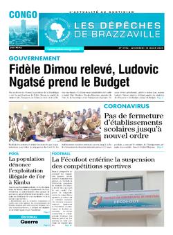 Les Dépêches de Brazzaville : Édition brazzaville du 18 mars 2020