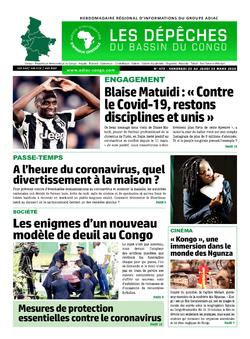 Les Dépêches de Brazzaville : Édition du 6e jour du 21 mars 2020