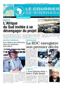 Les Dépêches de Brazzaville : Édition brazzaville du 23 mars 2020