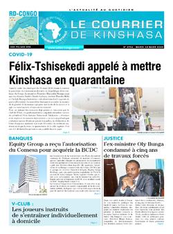 Les Dépêches de Brazzaville : Édition brazzaville du 24 mars 2020